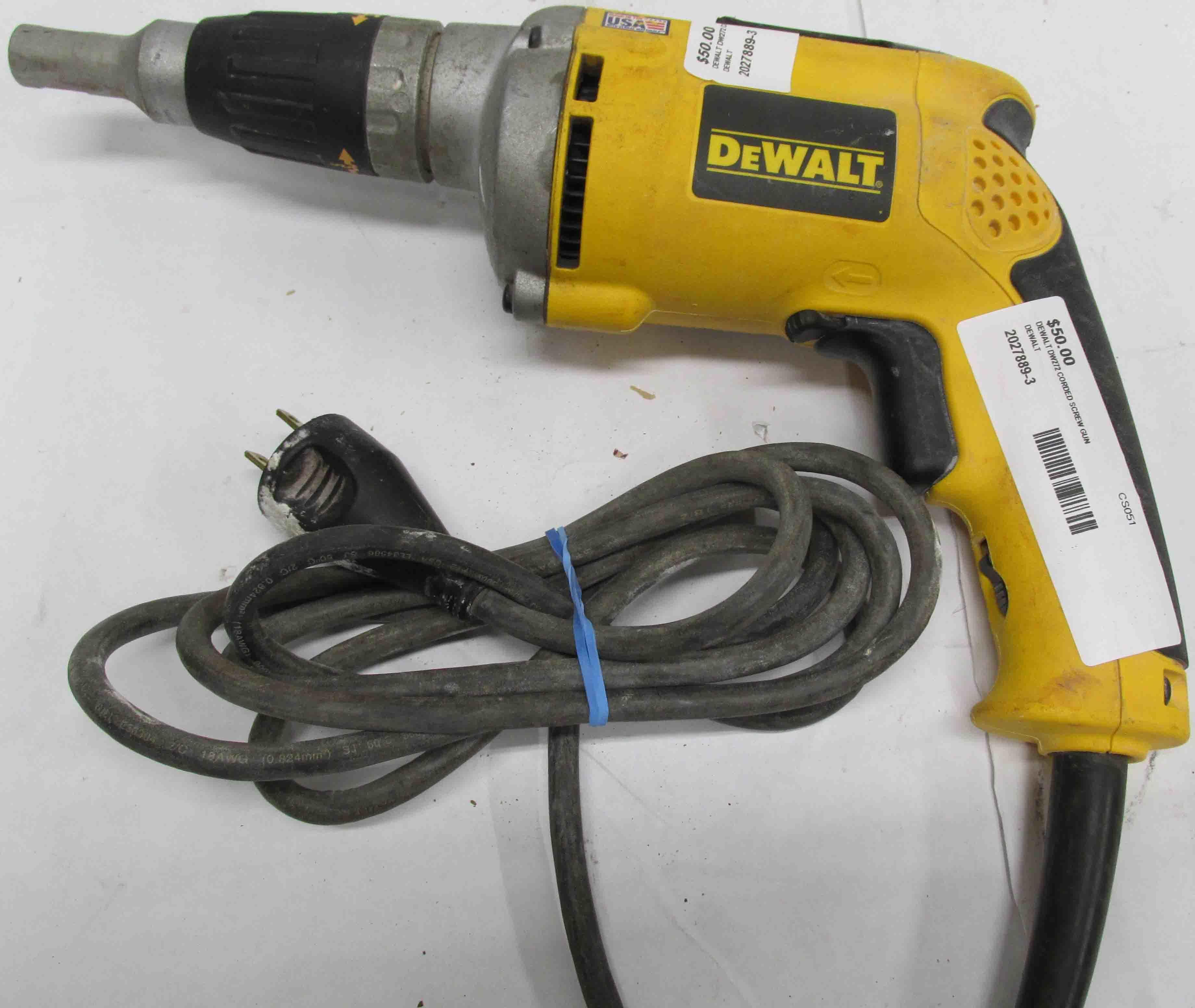 DeWalt DW272 Corded VSR Drywall Screwdriver