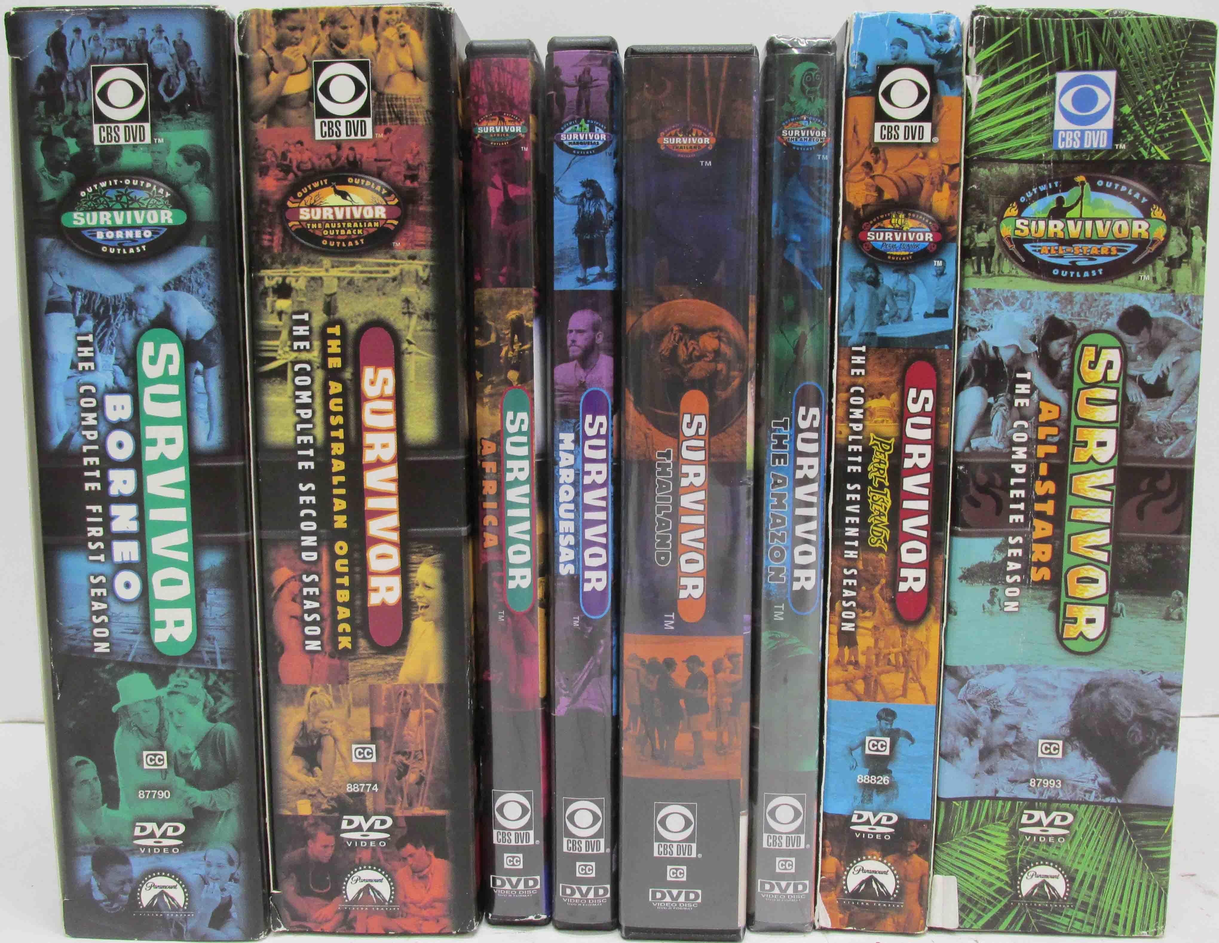 Survivor TV Show DVDs - Seasons 1 - 8