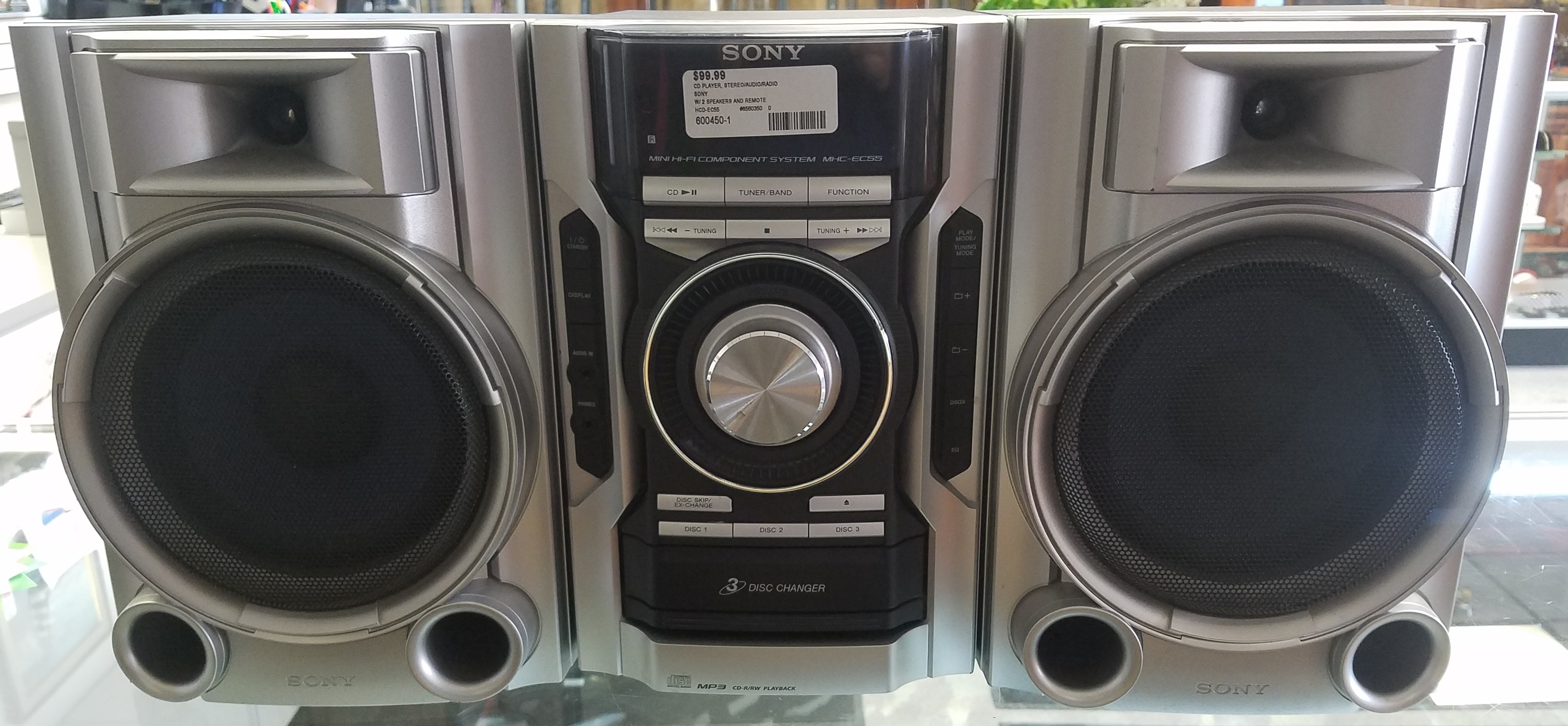 SONY CD PLAYER STEREO/AUDIO/RADIO