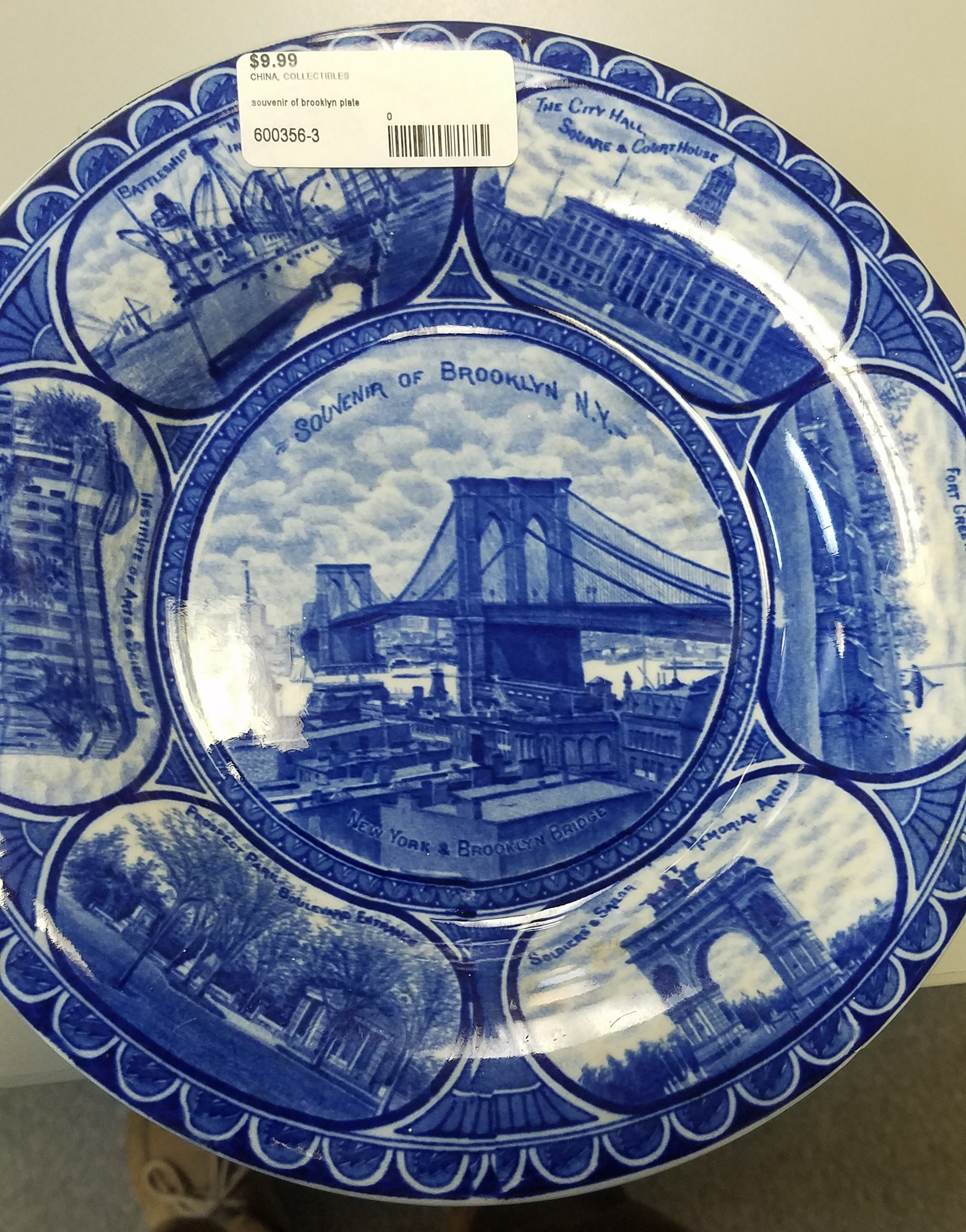 Souvenir of Brooklyn plate