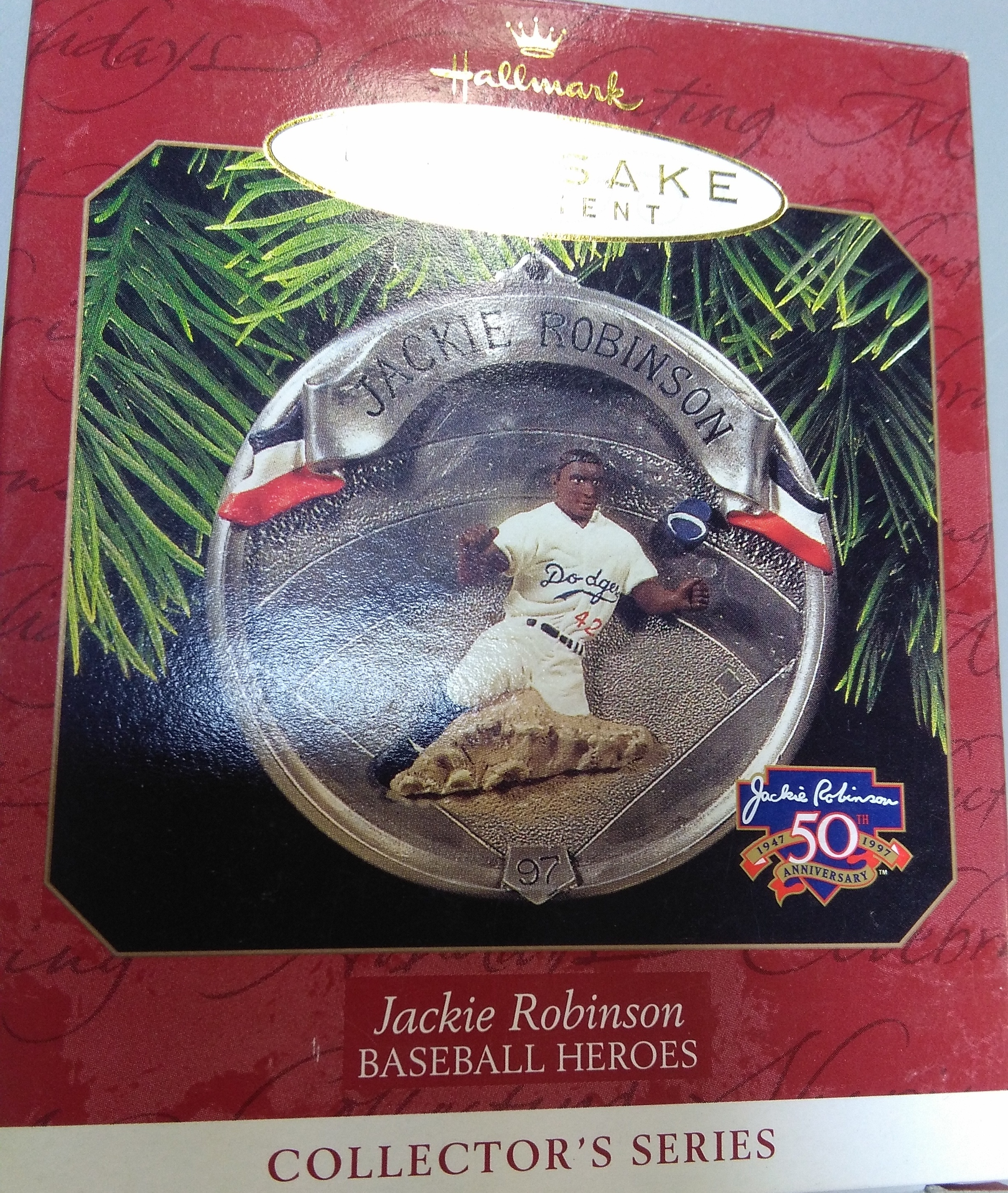 Jackie Robinson Christmas Ornament