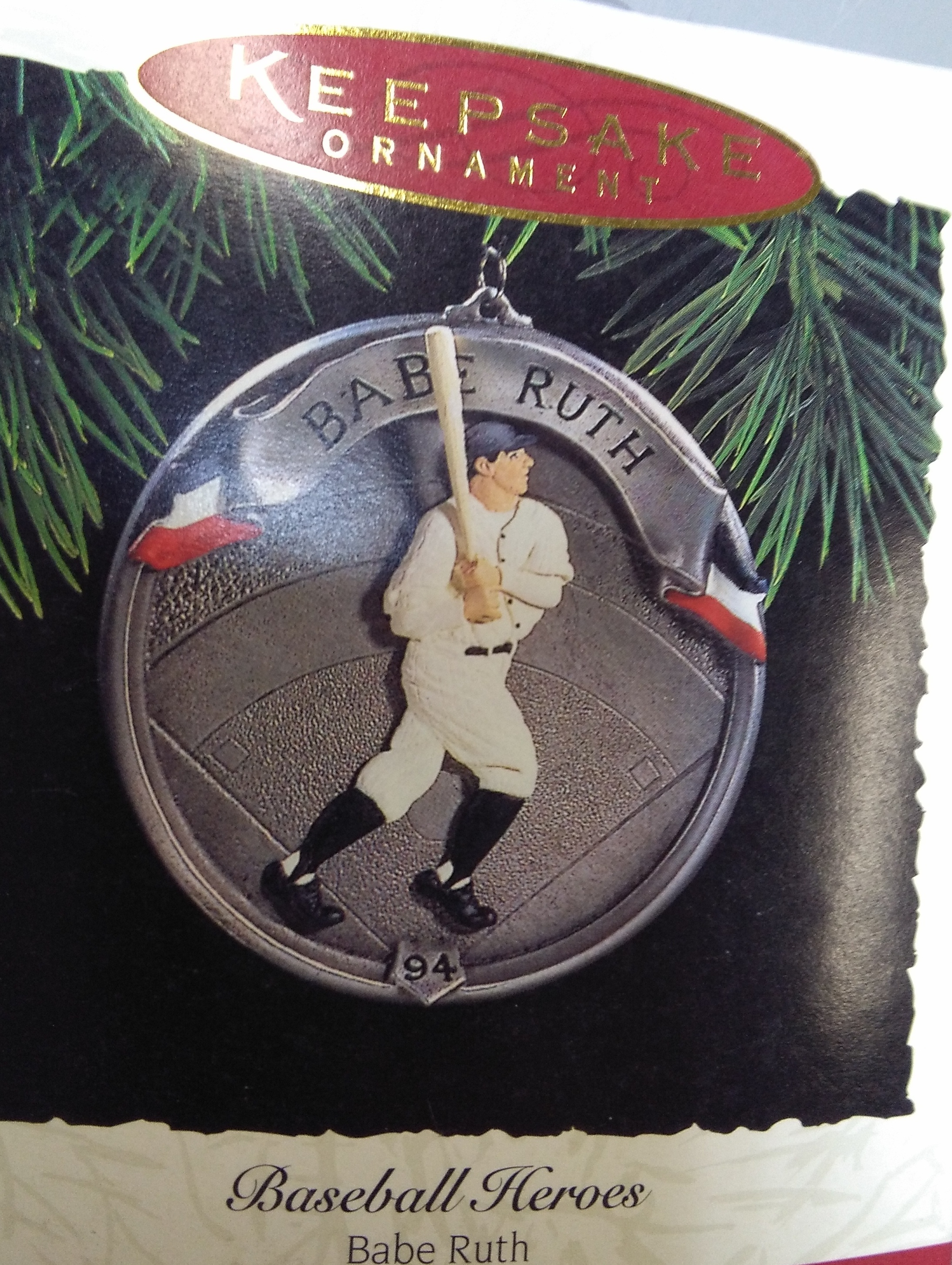 Babe Ruth Christmas Ornament