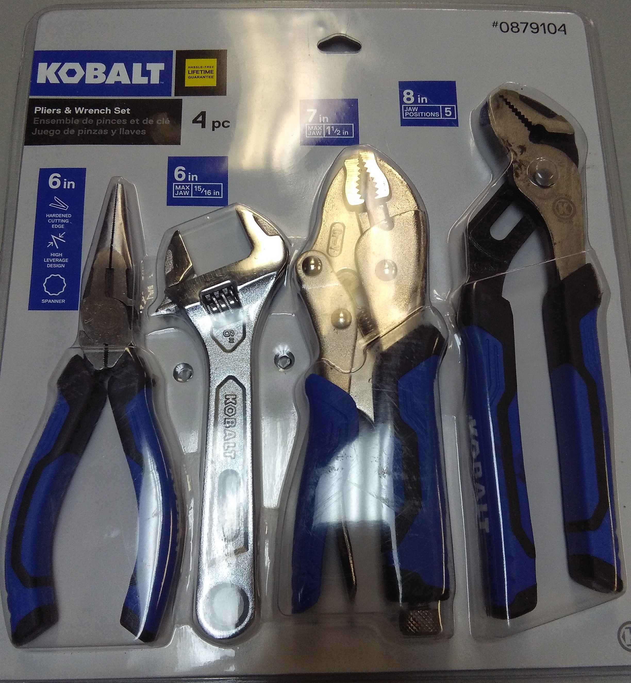 KOBALT 4 PC PLIERS AND WRENCH SET