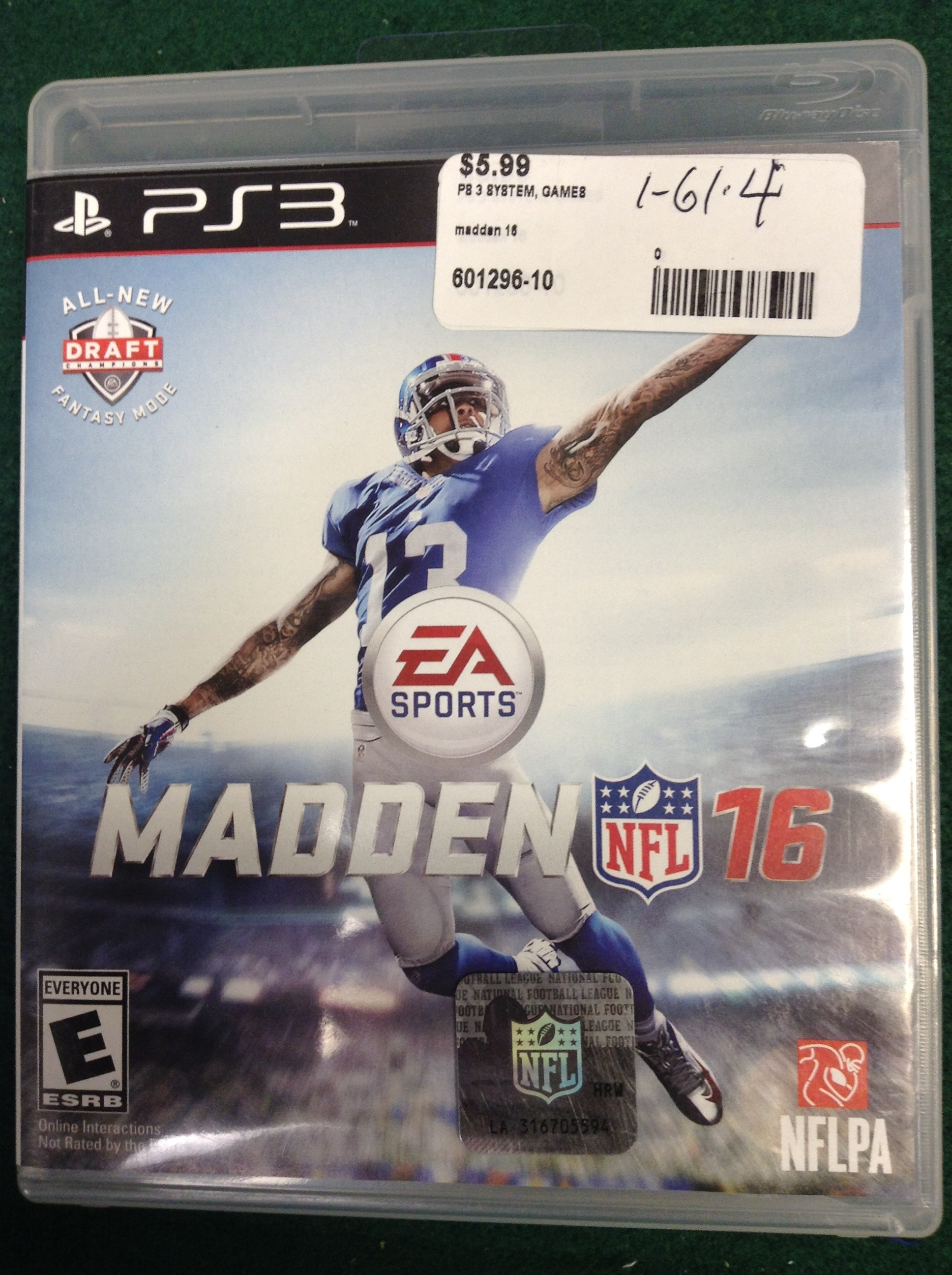 MADDEN 16 FOR PS 3