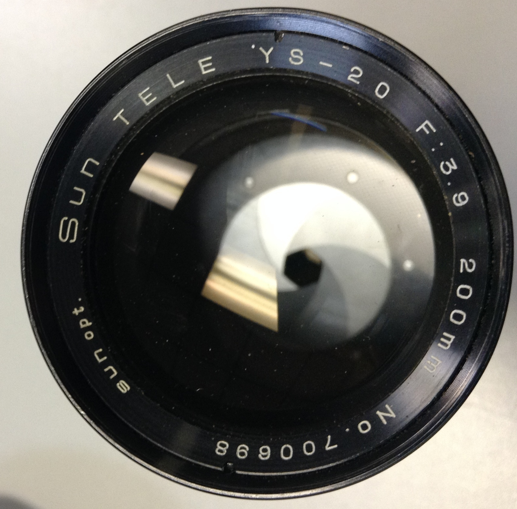 SUN TELE YS-20 200MM OPTIC LENS