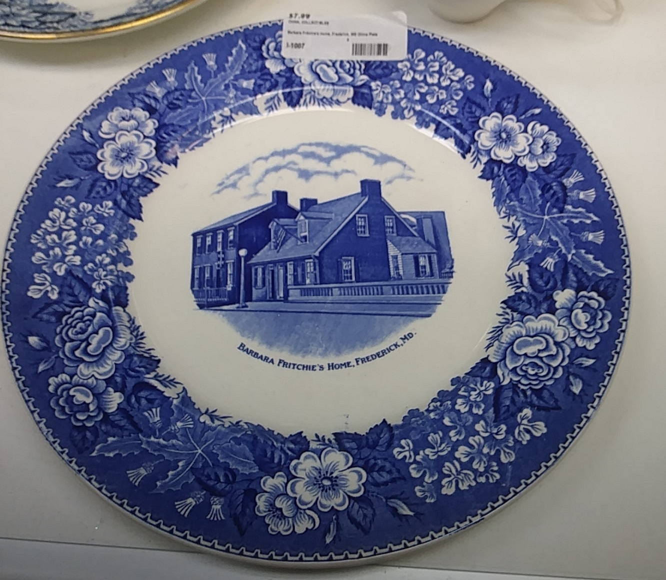 Barbara Fritchie's Home China Plate