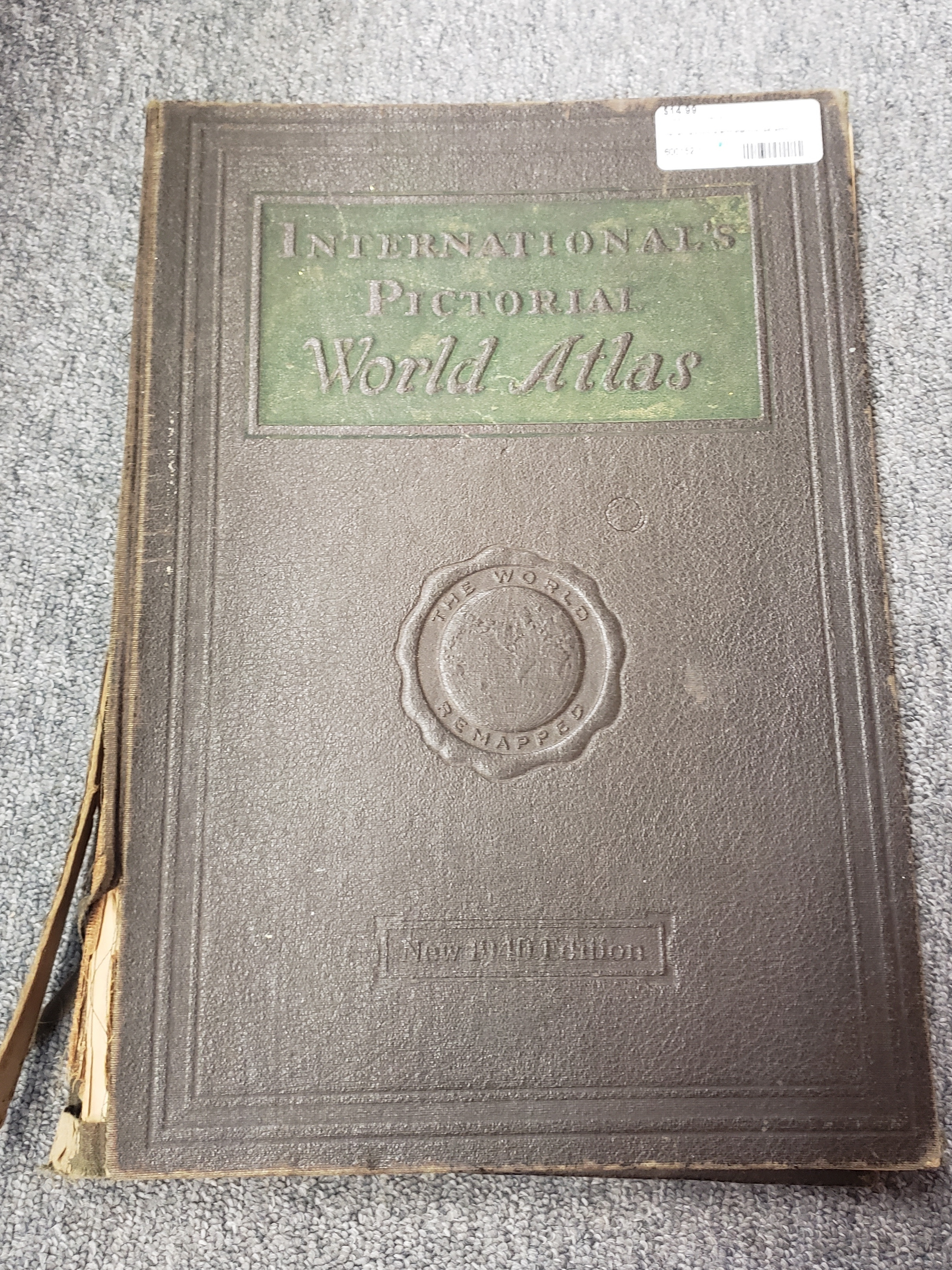 INTERNATIONAL'S PICTORIAL WORLD ATLAS BOOK 1940 EDITION