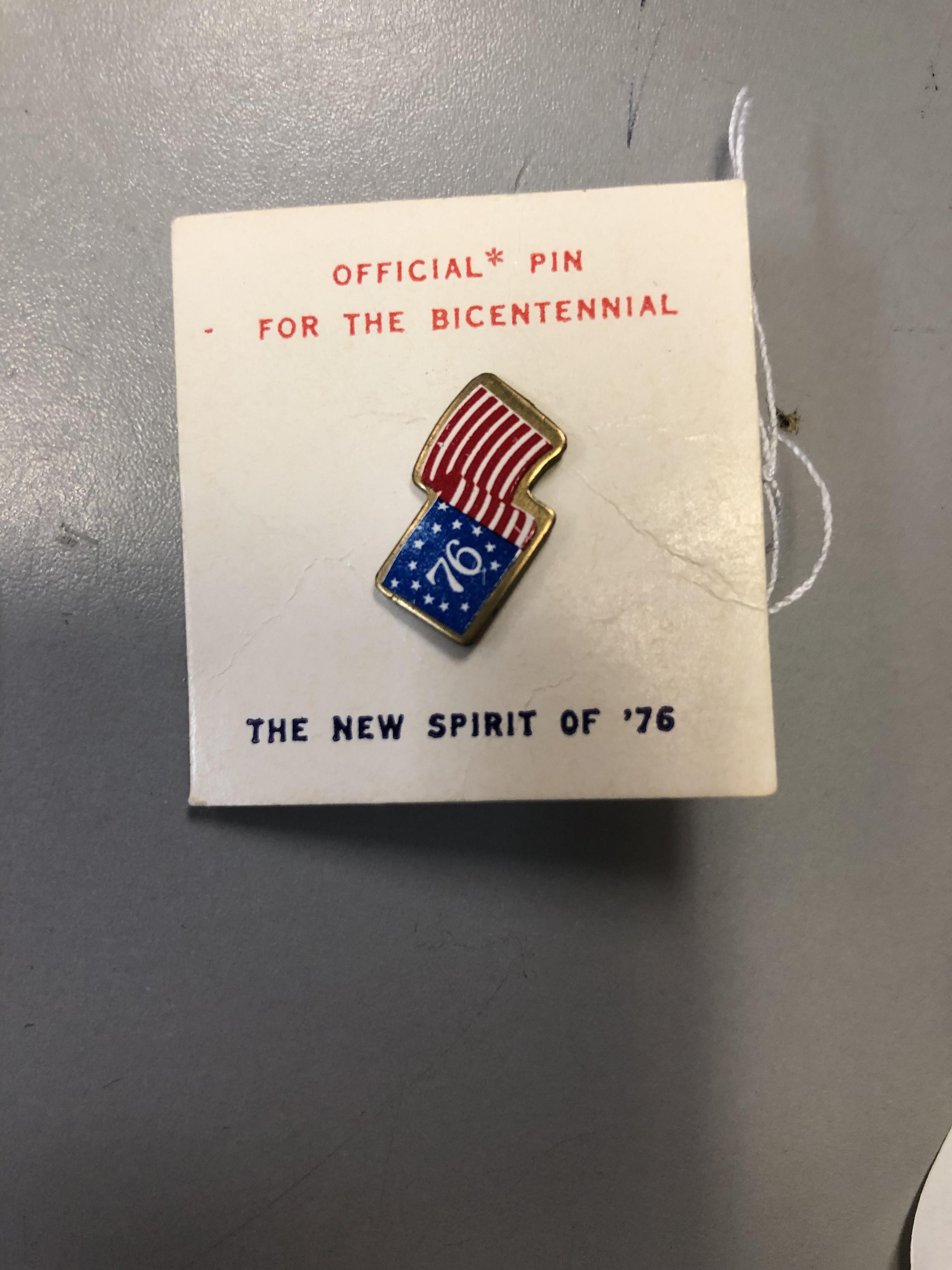 Pin of the Bicentennial Spirit of 76
