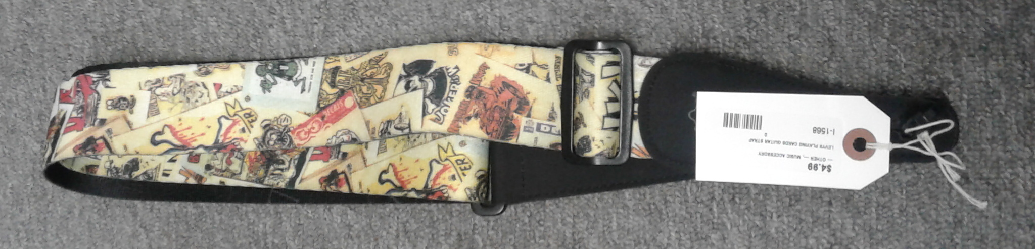 LEVY'S PLAYING CARDS GUITAR STRAP