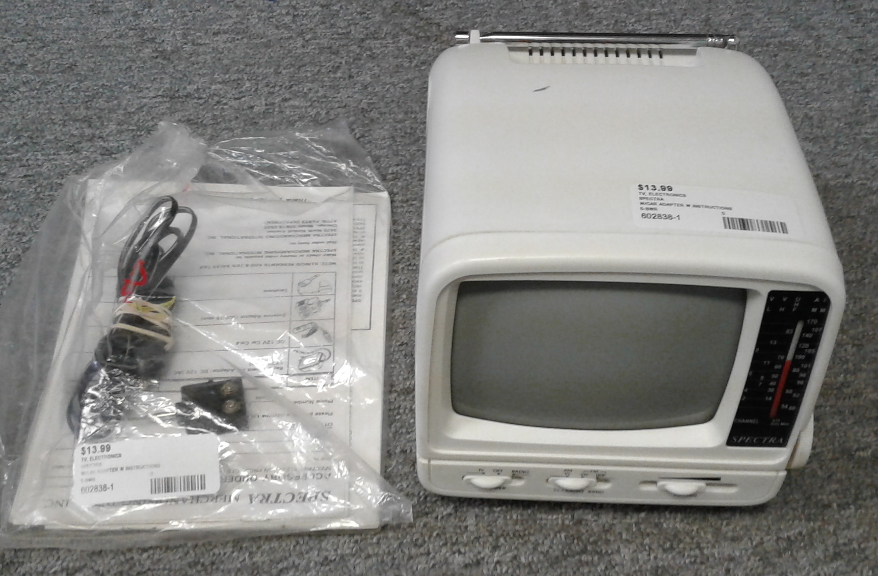 SPECTRA 5-BWR PORTABLE TV
