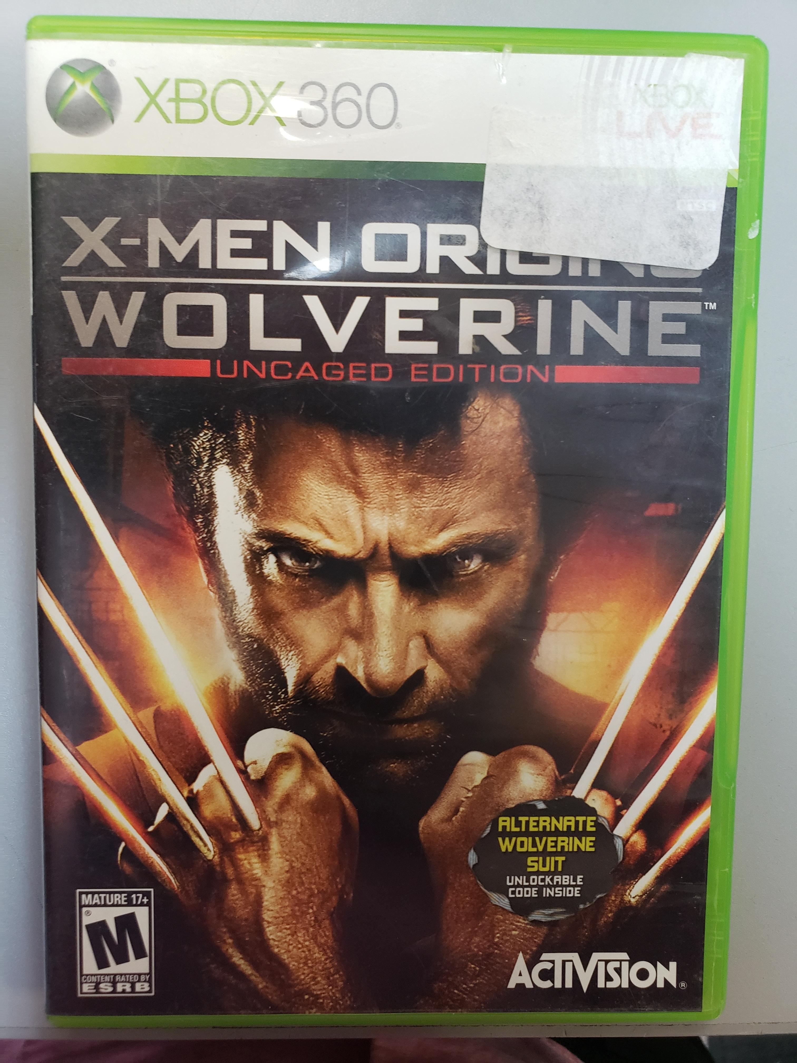 X-MEN ORIGINS WOLVERINE UNCAGED EDITION - XBOX 360 GAME