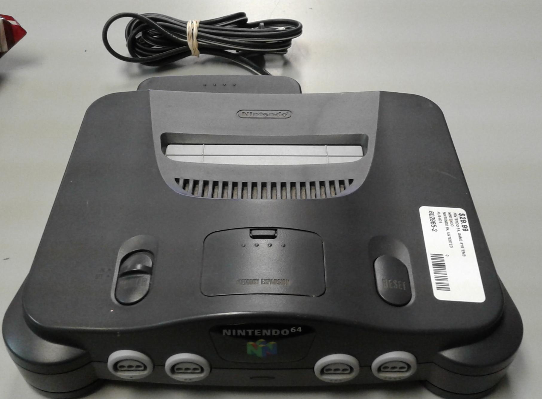 NINTENDO NUS-001 NINTENDO 64 GAME SYSTEM