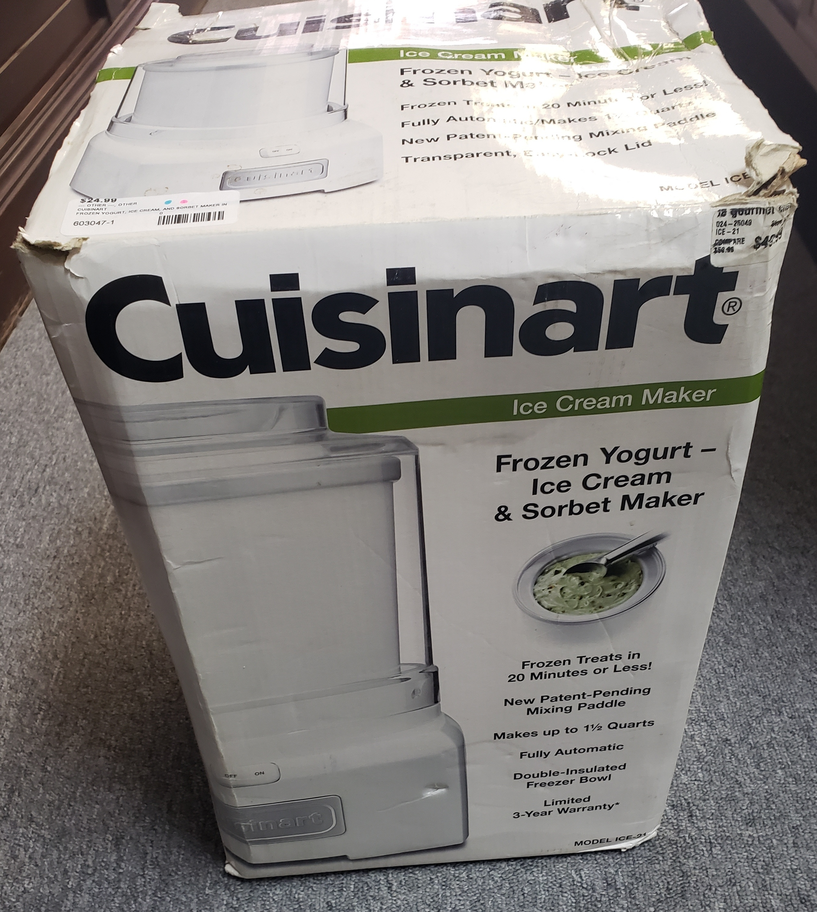 CUISINART - FROZEN YOGURT, ICE CREAM, AND SORBET MAKER