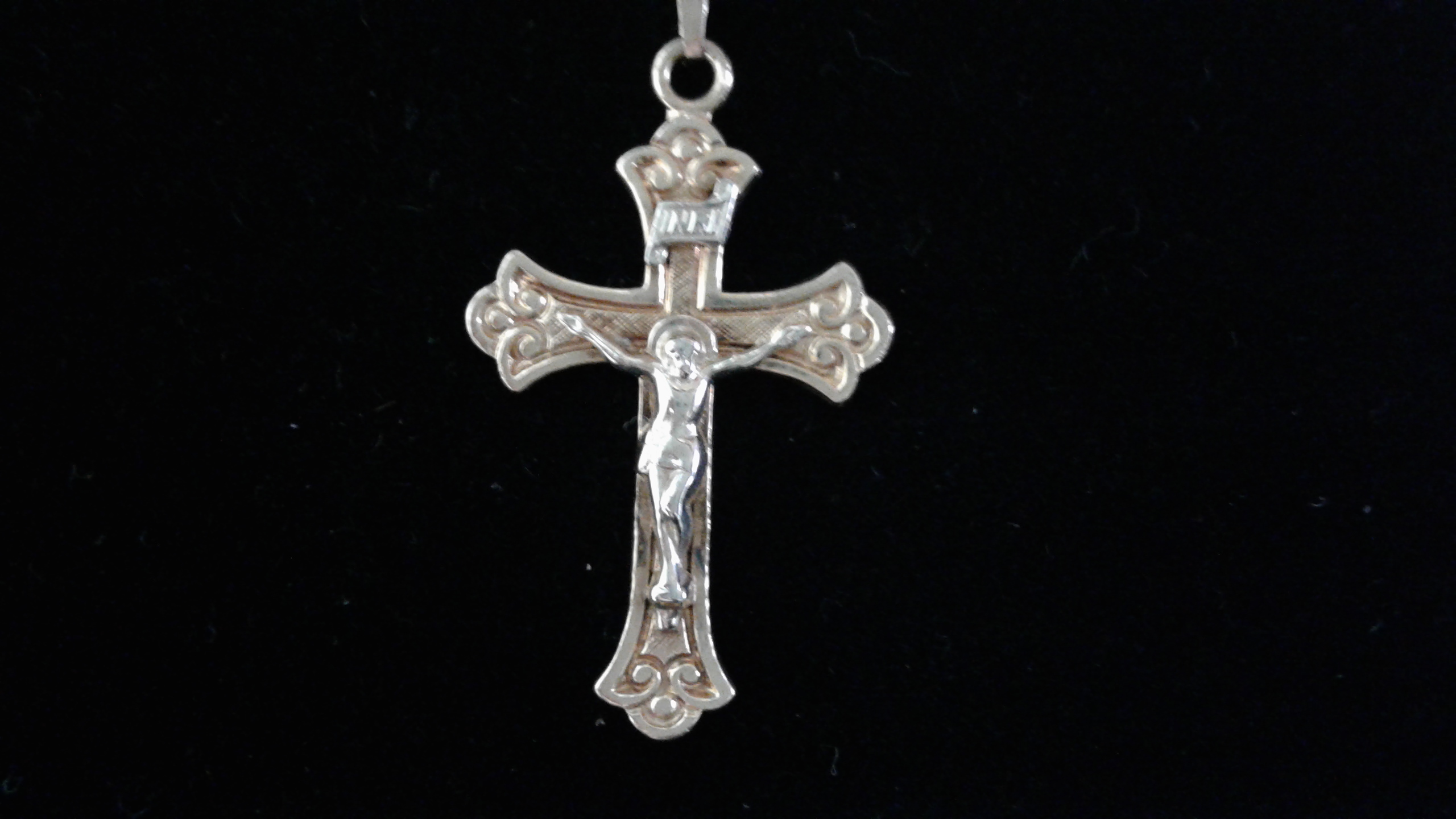 14KT - Yellow Gold - Cross - Charm - 1.5 Grams - crucifix