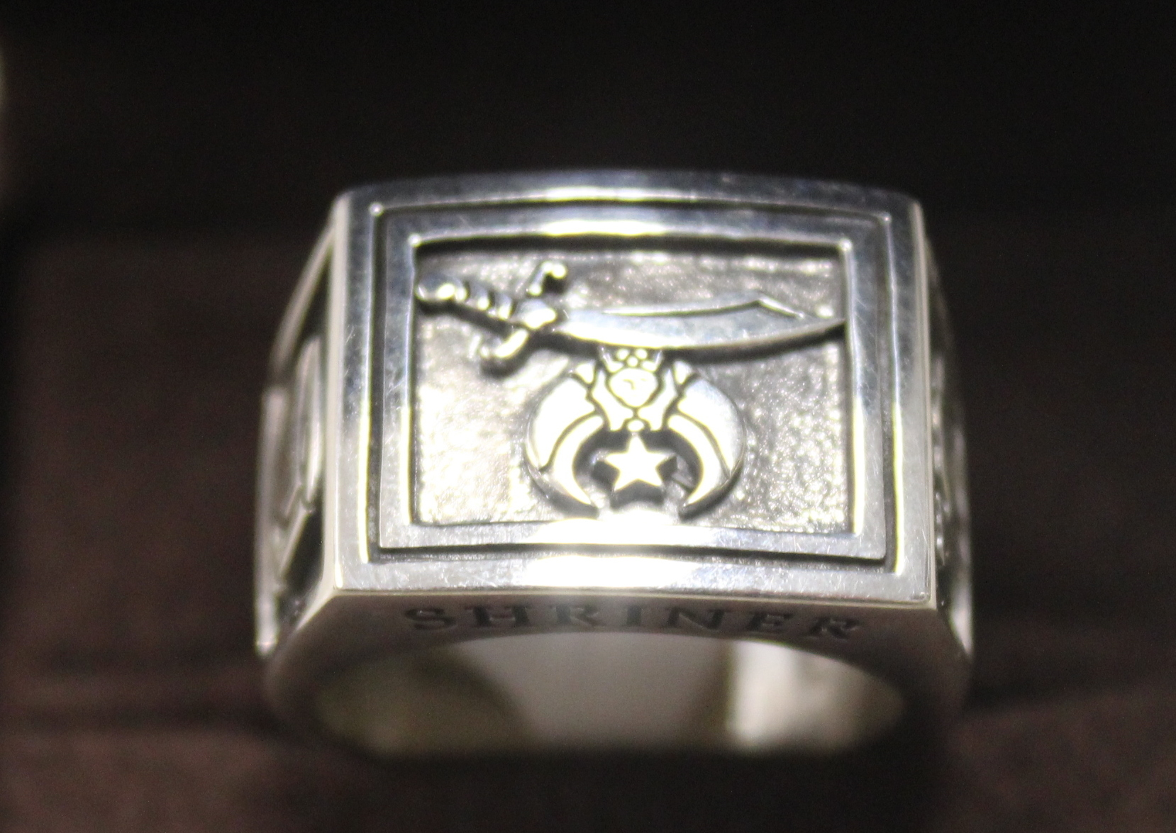NEW Sterling Silver Shriner Ring size 10