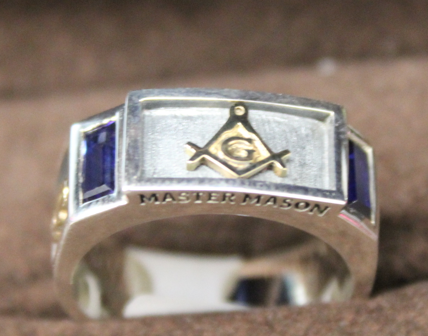 NEW Sterling Silver/14K Master Mason Ring size 10