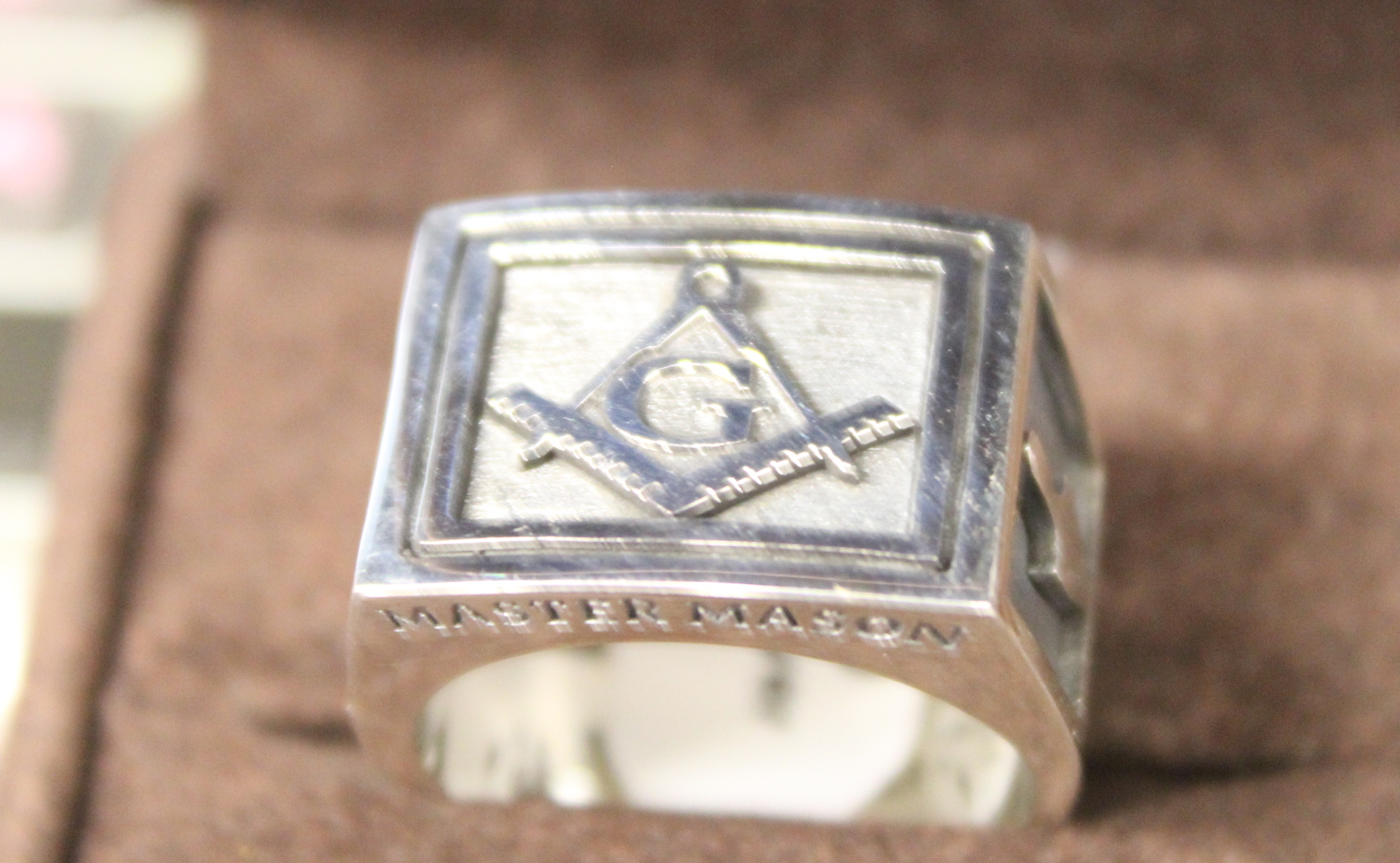 New Sterling Silver Master Mason Ring Size 10
