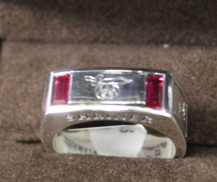 NEW Stirling Silver Synthetic Sapphire Shriner Ring Size 12