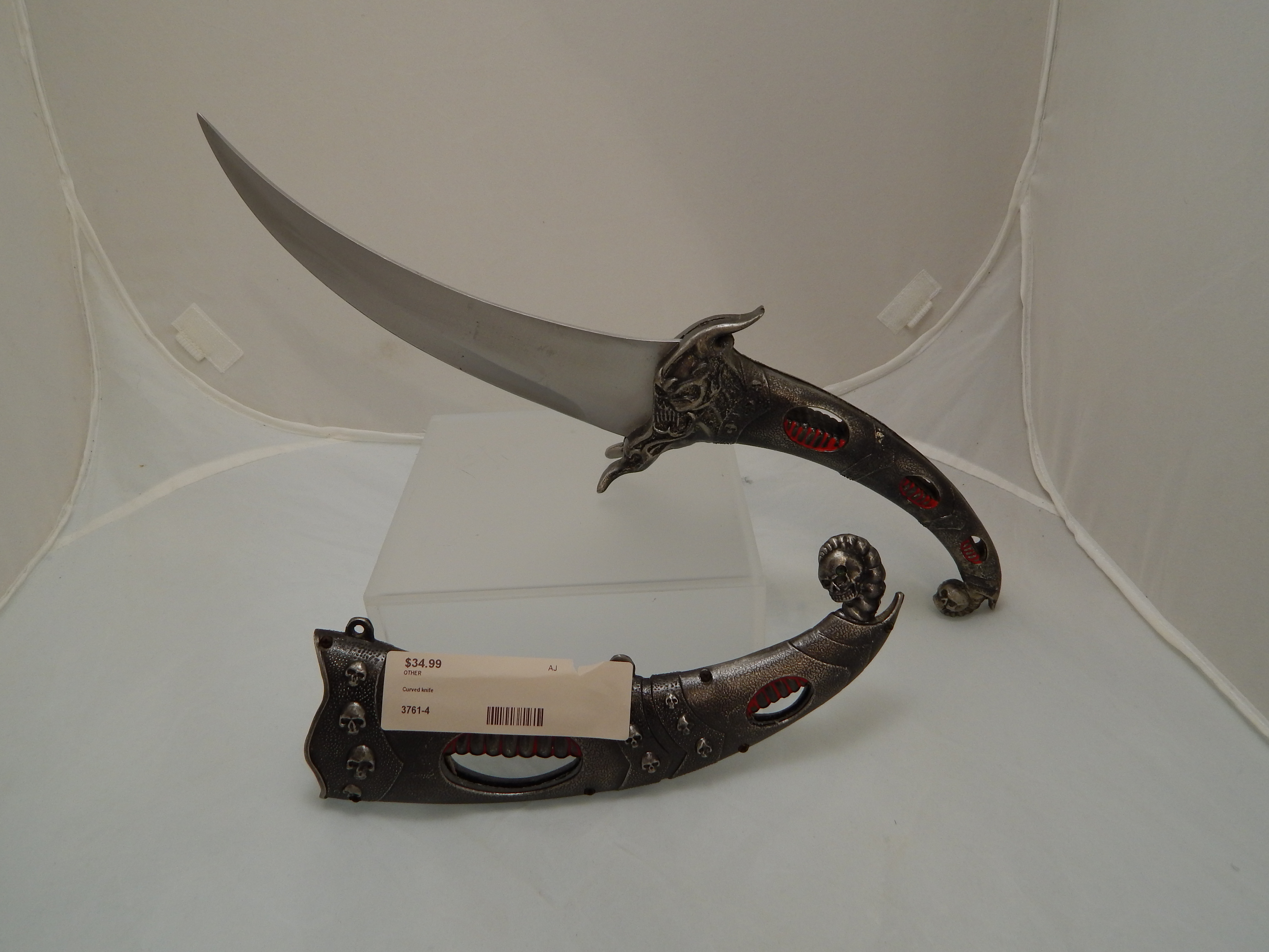 Curved knife