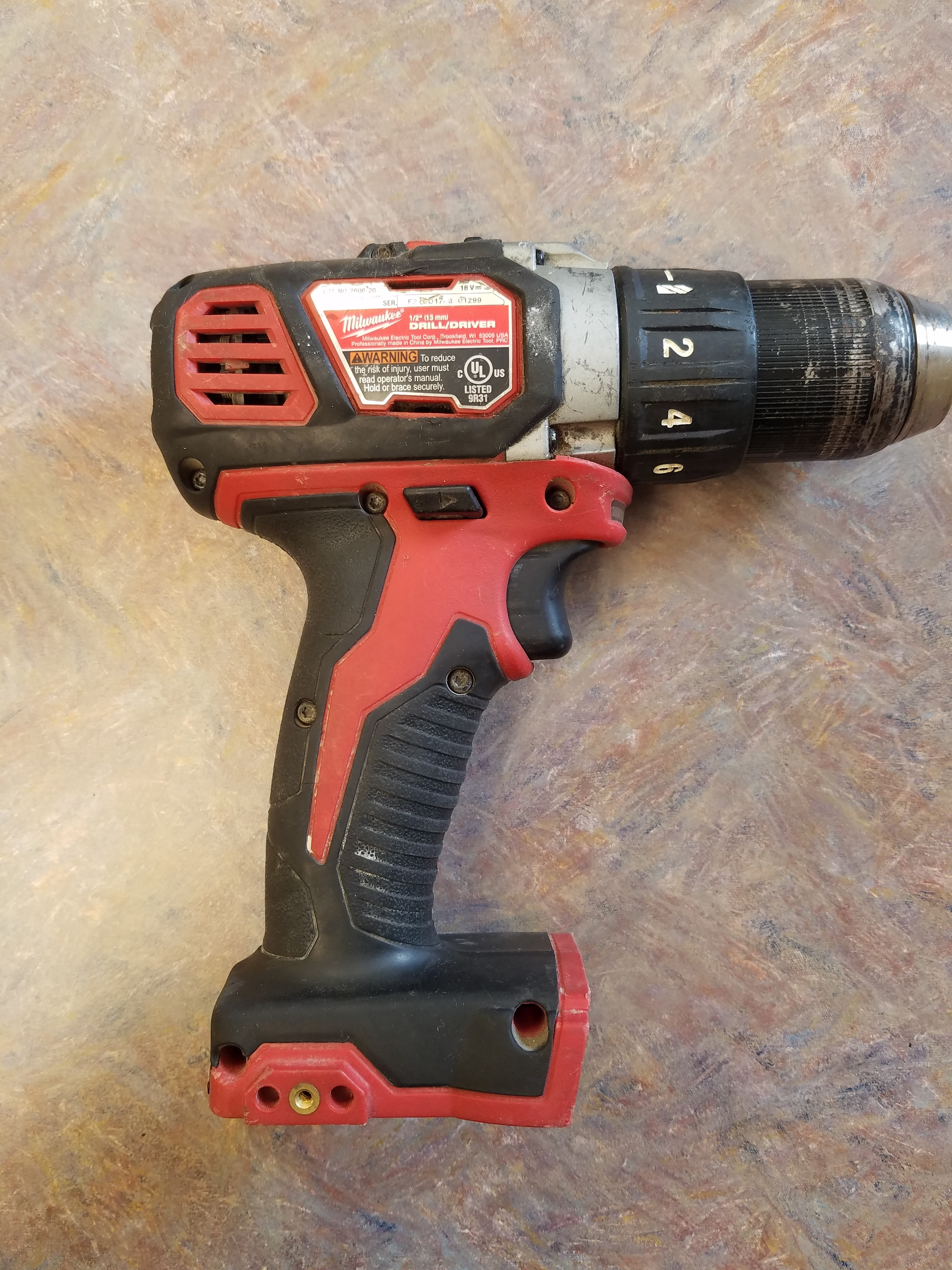 MILWAUKEE 2606-20 M18 DRILL DRIVER TOOL ONLY