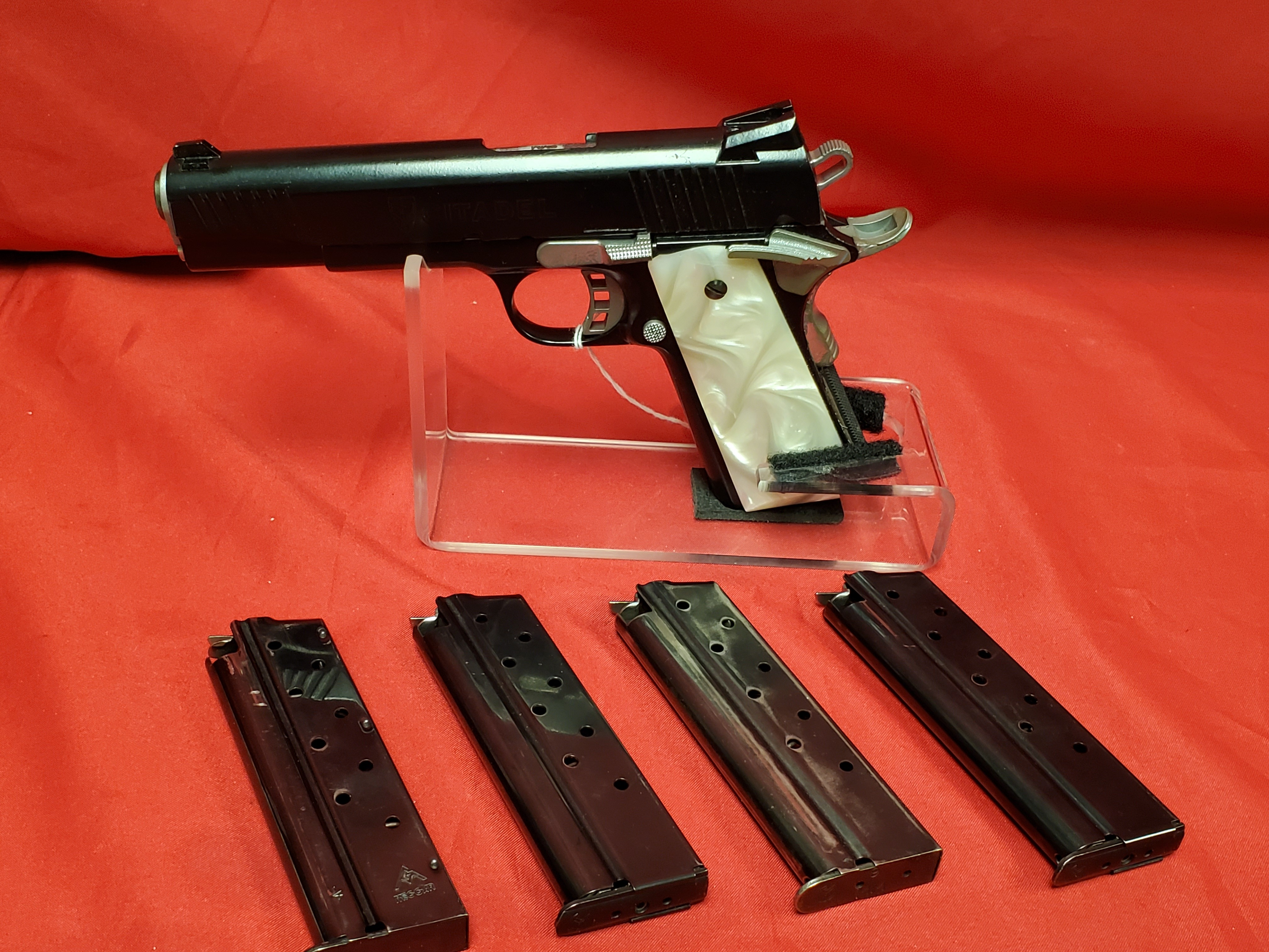 CITADEL M1911 with PEARL GRIPS in 9mm - Includes 4 magazines
