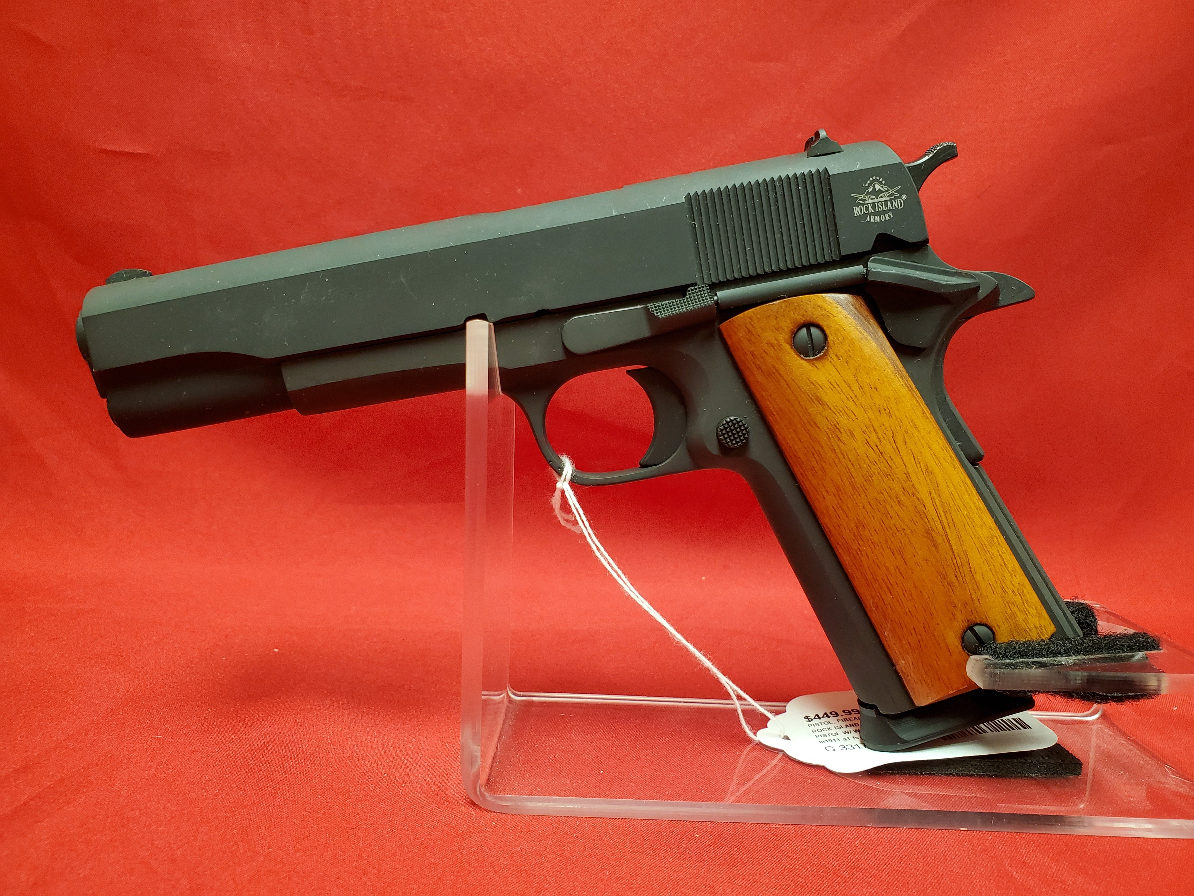 Rock Island 1911 45acp - LIKE NEW!! - GI Standard FS-1 Mag, Lock & Original Case
