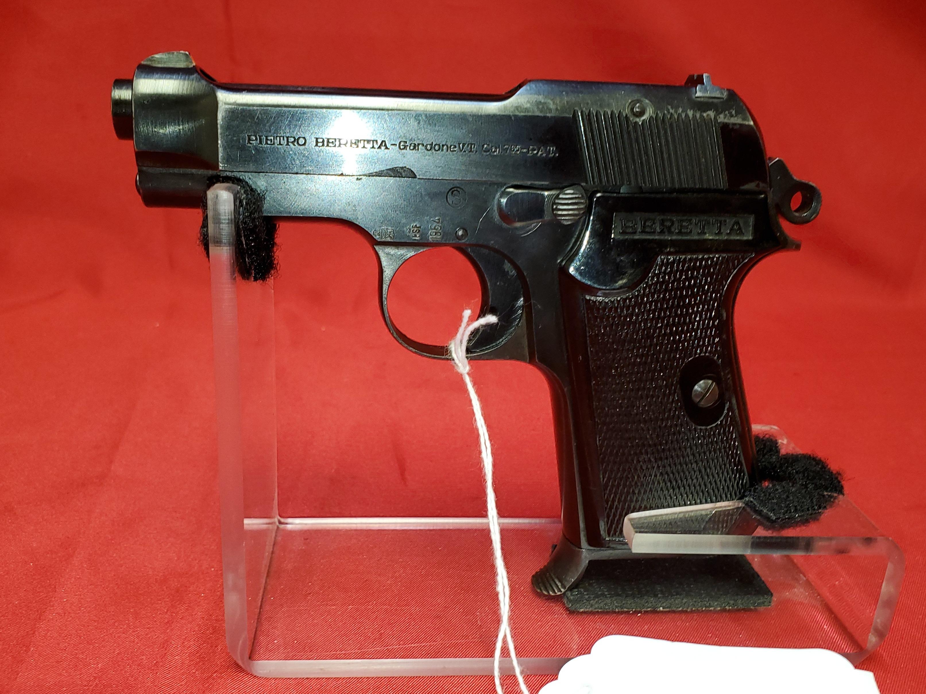 BERETTA M1935 - 32 CAL PISTOL, 1 MAG, CAMO CASE