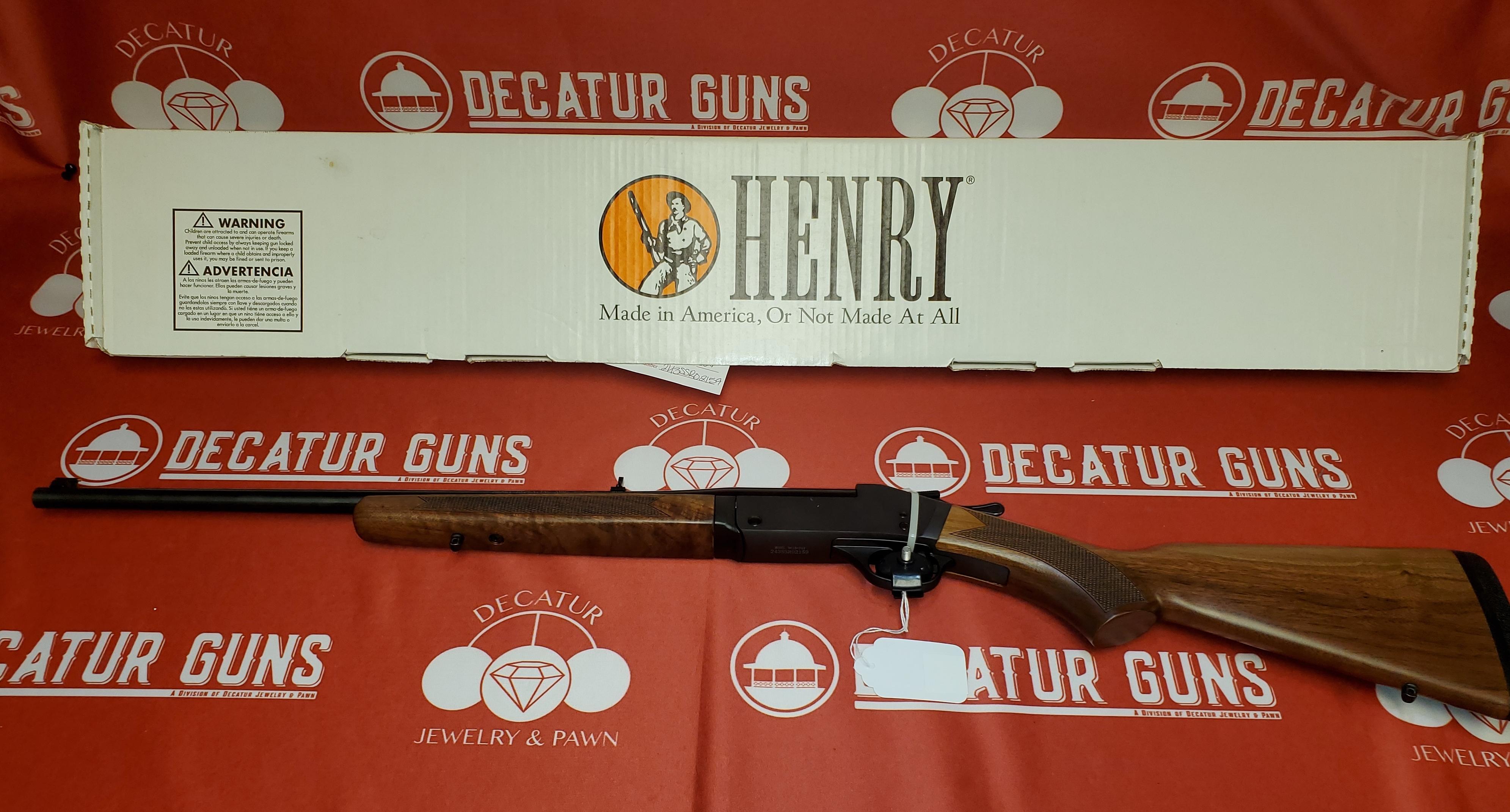 HENRY H015-243 NEW IN BOX 243 CENTERFIRE SINGLE-SHOT RIFLE