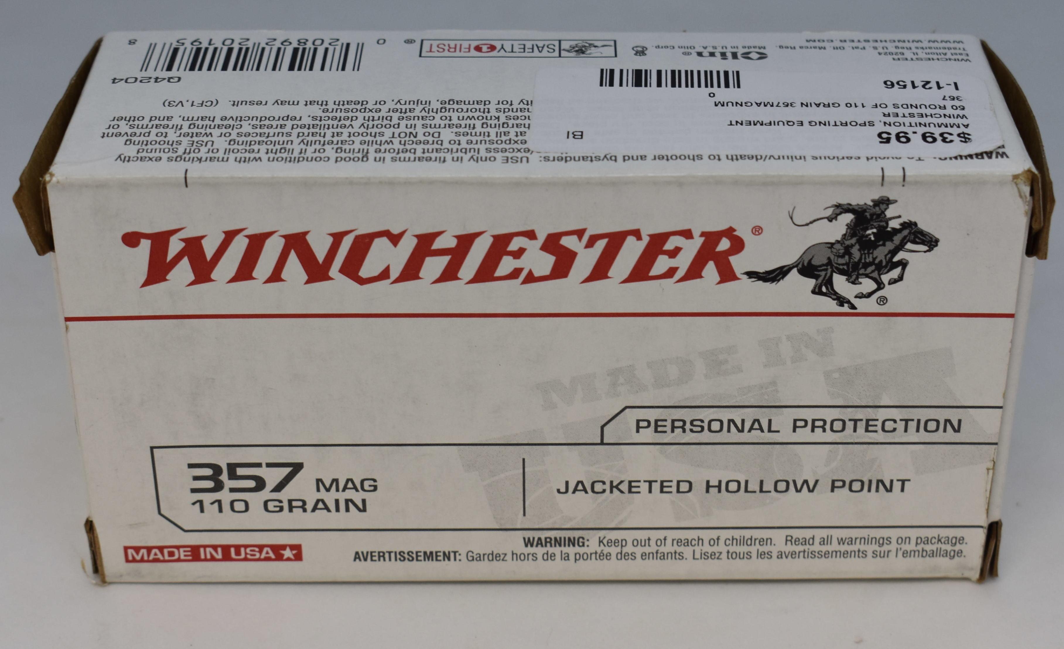 WINCHESTER - 357 - AMMUNITION SPORTING EQUIPMENT