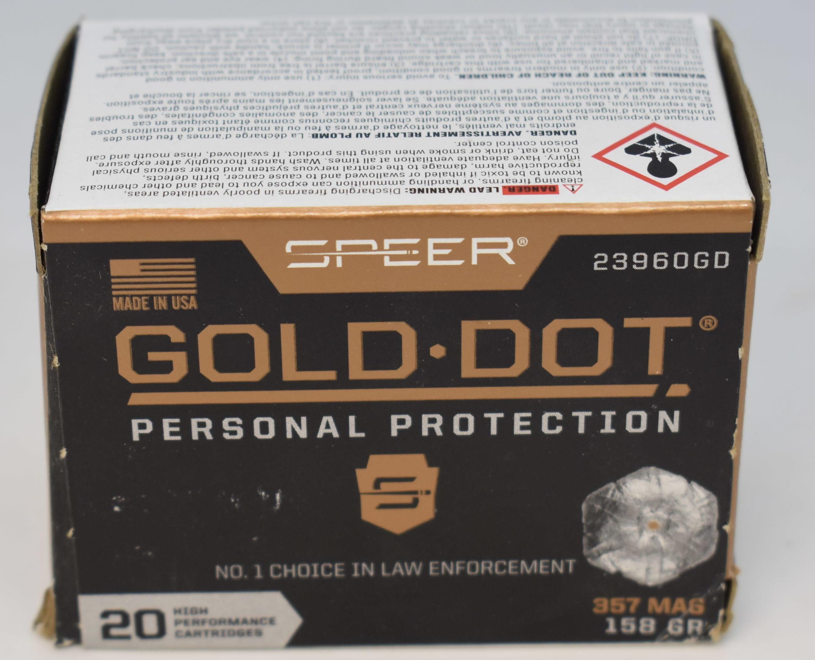 SPEER - 357 - AMMUNITION SPORTING EQUIPMENT