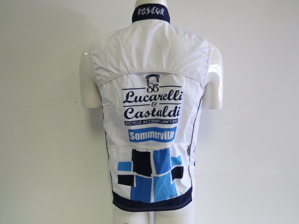 Medium Sommerville Sports Lucarelli /& Castaldi Men/'s Cycling Wind Vest CLOSEOUT