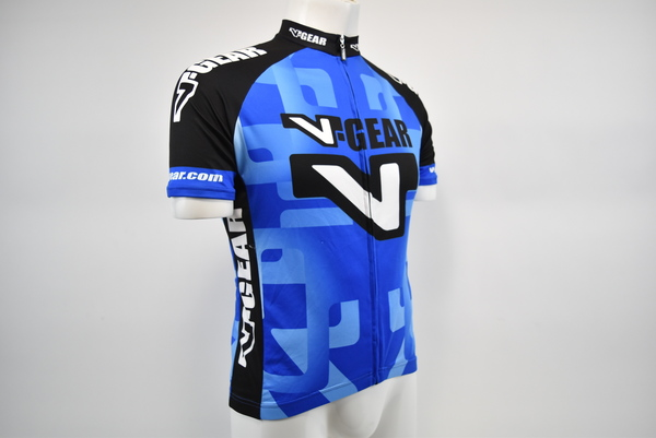 Verge Men/'s Large Short Sleeve Cycling Jersey Blue//White New