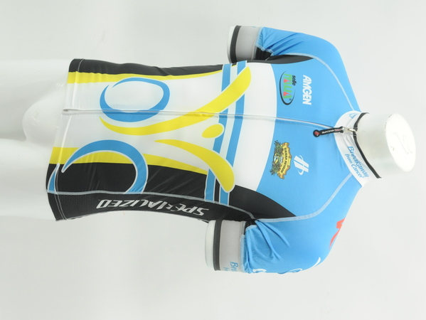 Breakaway From Cancer Men/'s Small Hincapie Short Sleeve Jersey Blue//Yel CLOSEOUT