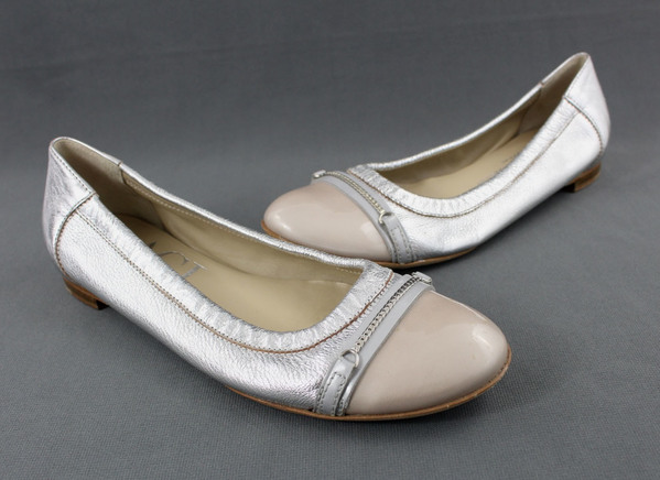 Agl Shoes   Agl Nude Ballet Flats Belted Patent Cap Toe