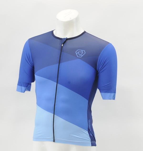 Verge Men's 3XL Speed Aero Short Sleeve Cycling Jersey Blue ...